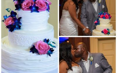 Chrystal and Darin's Bold and Bright Wedding Cake
