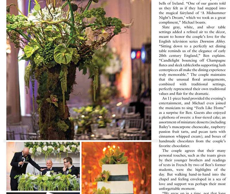 JCakes Featured in Inside Weddings Spring 2014