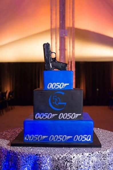 James Bond Themed Cake for 50th Birthday at Norwich Marina
