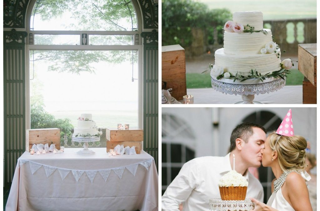 Classic Buttercream Wedding Cake at Harkness Park