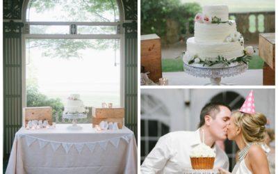 Classic Buttercream Wedding Cake at Harkness Park