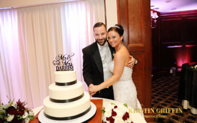 Kim and Mike DiTullio's Elegant Wedding Cake