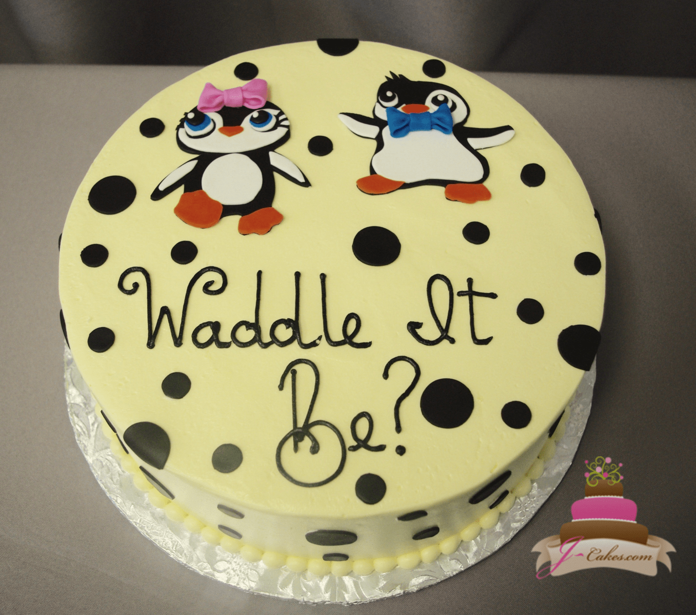 (234) Penguin Gender Reveal Cake