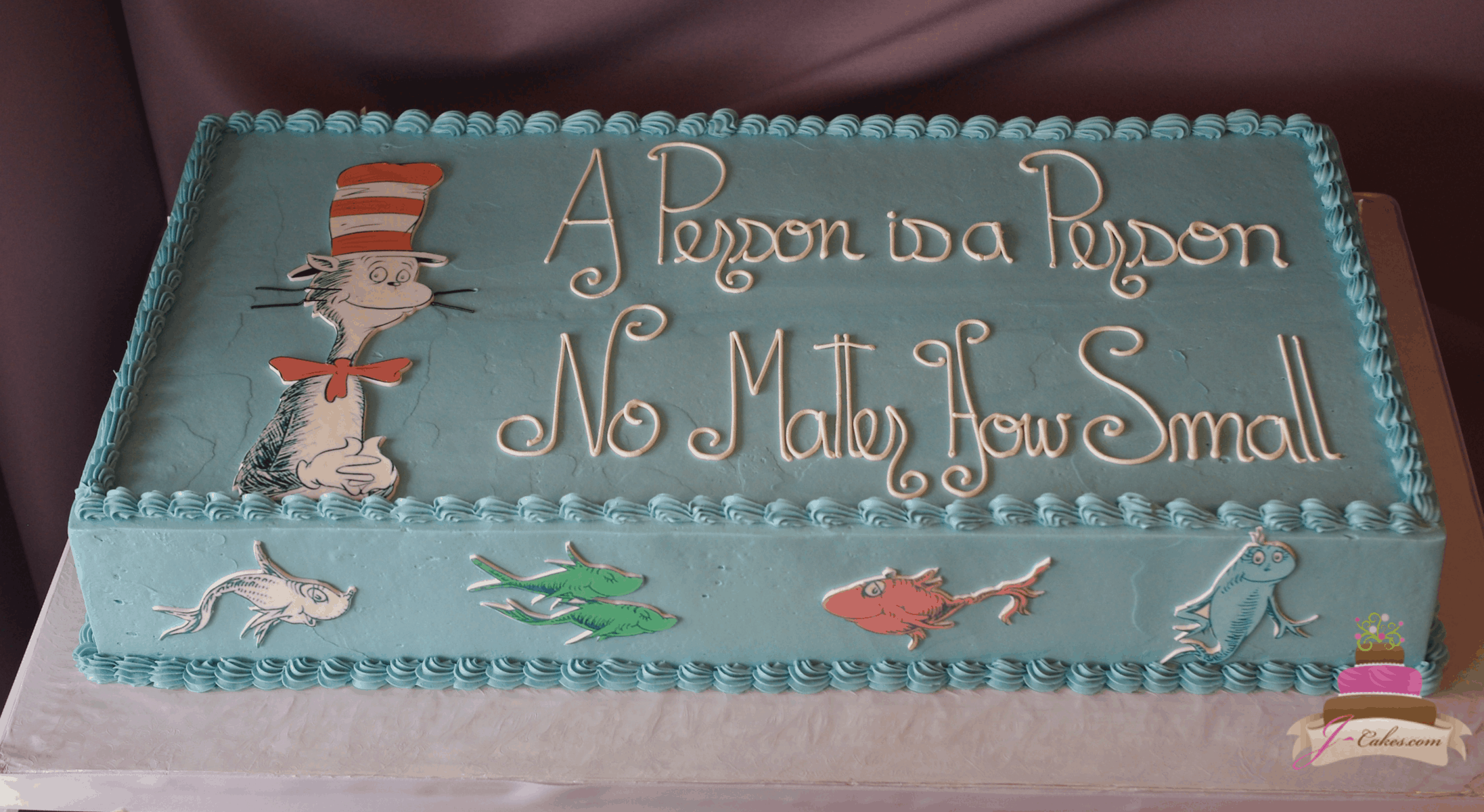 (238) Dr. Seuss Baby Shower Cake