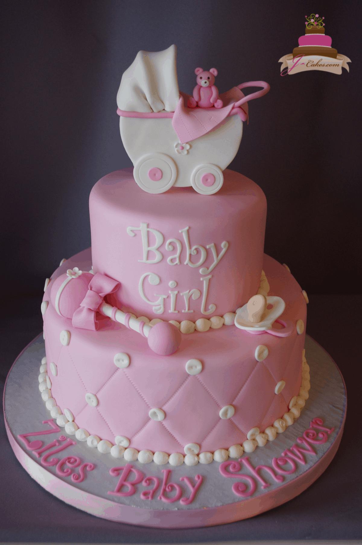 (239) Fondant Baby Shower Cake
