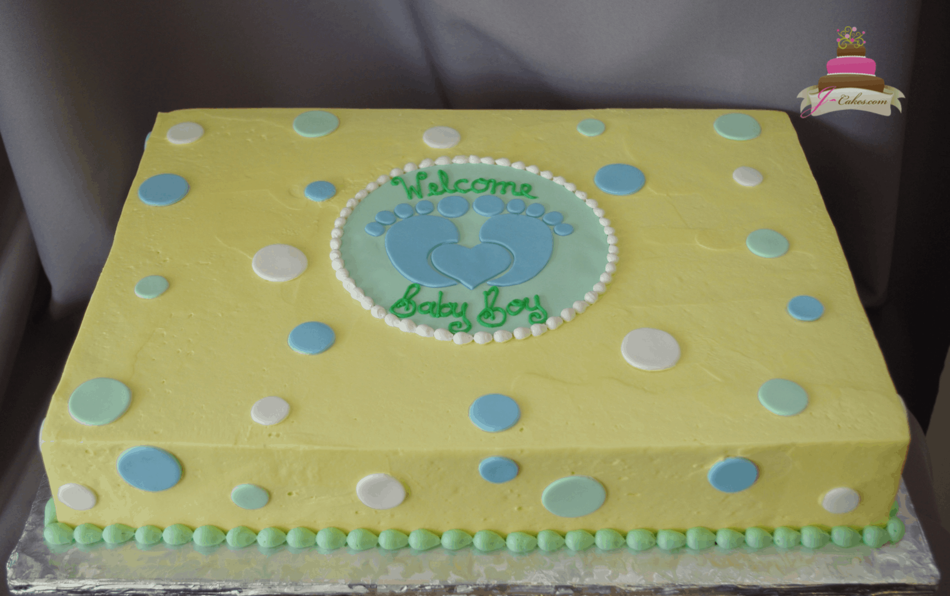 (243) Baby Footprint Shower Cake