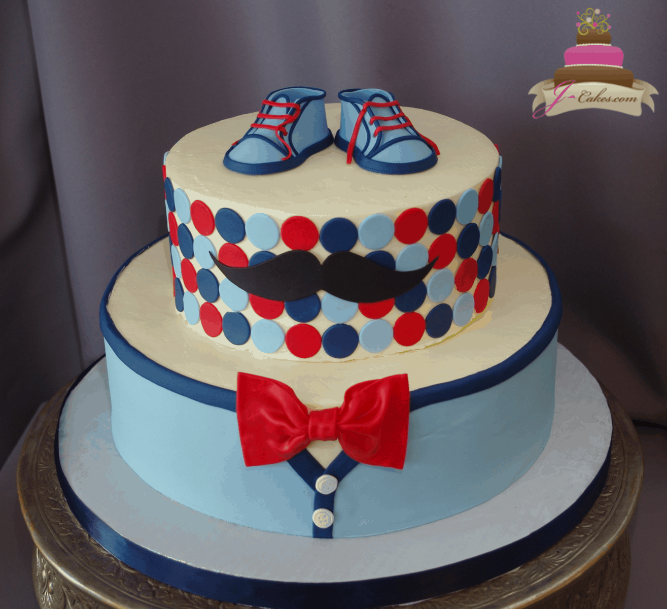 (244) Little Man Baby Shower Cake