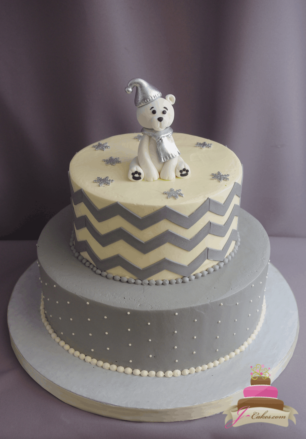(246) Polar Bear Baby Shower Cake