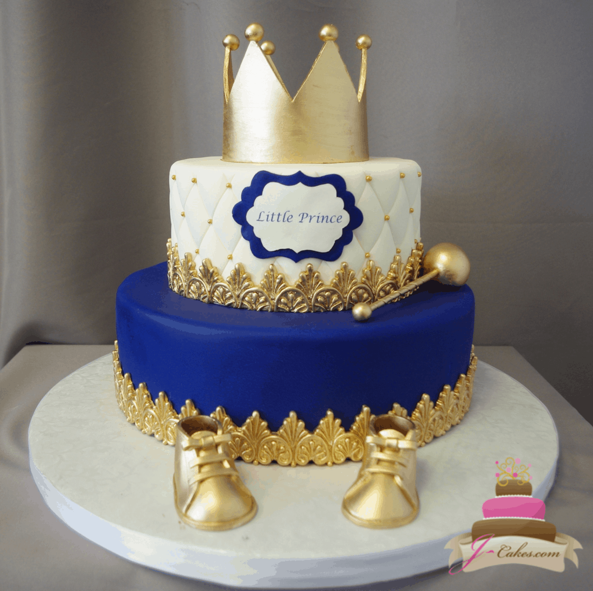 (248) Little Prince Baby Shower Cake
