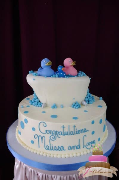 (213) Rubber Ducky Baby Shower Cake