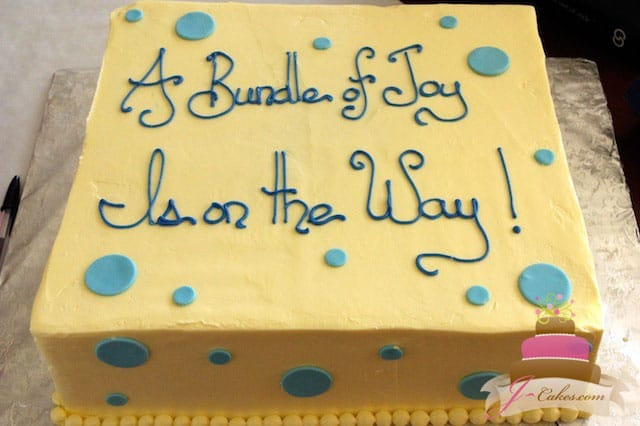 (215) Polka Dot Baby Shower Cake