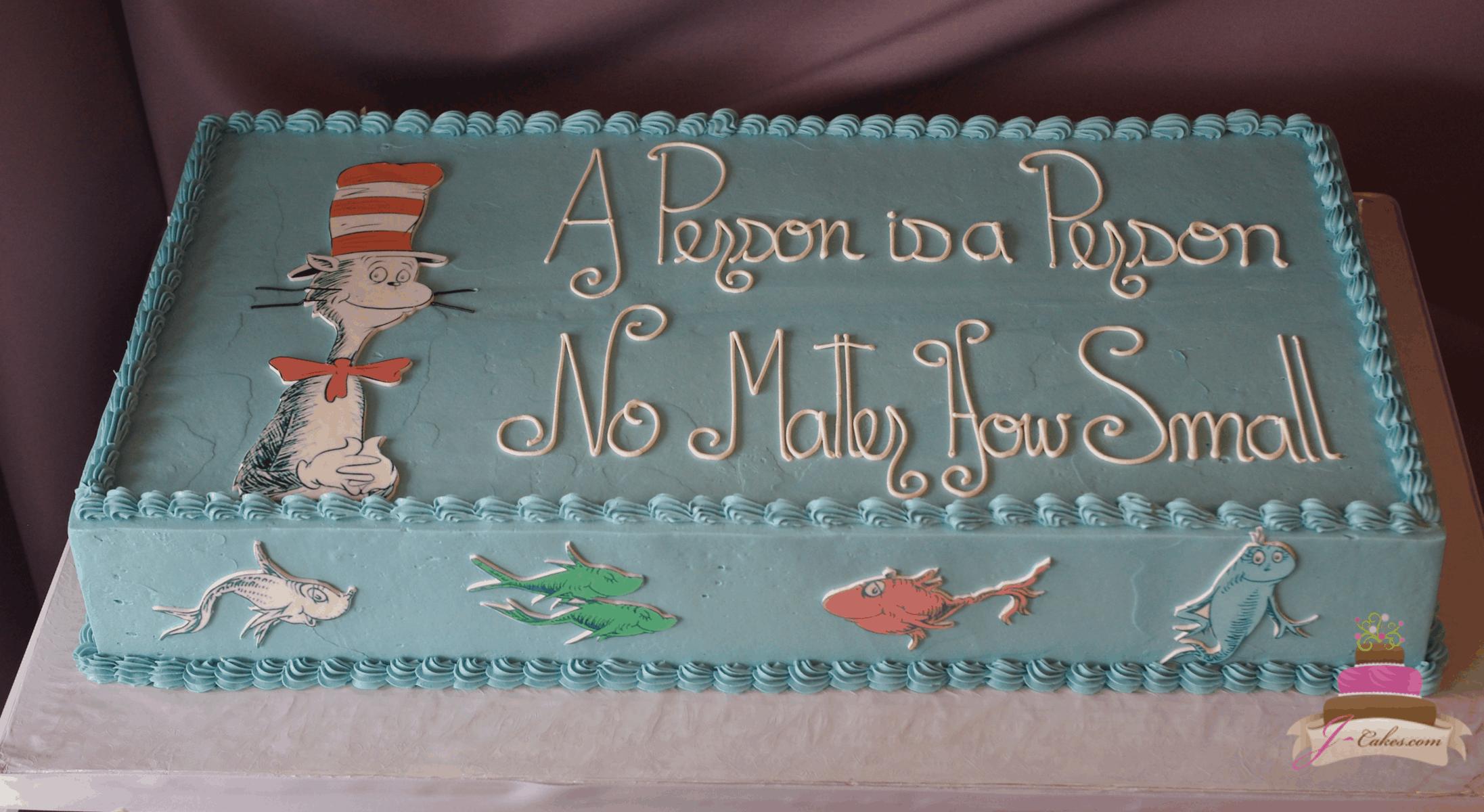 (238) Dr. Seuss Baby Shower Cake