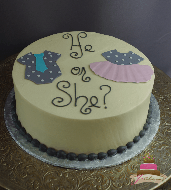 (241) Onesie Gender Reveal Cake
