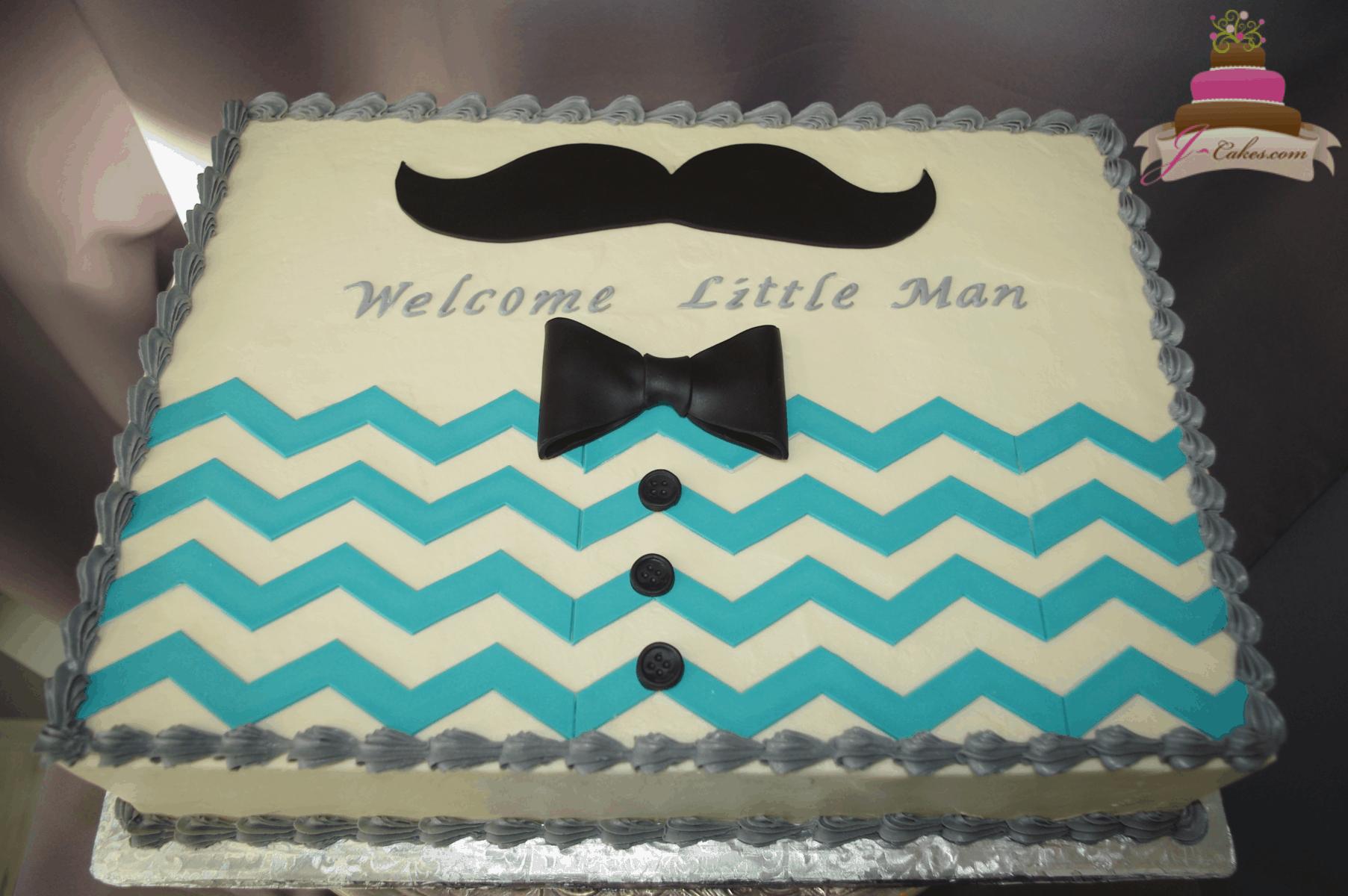(249) Little Man Sheet Cake