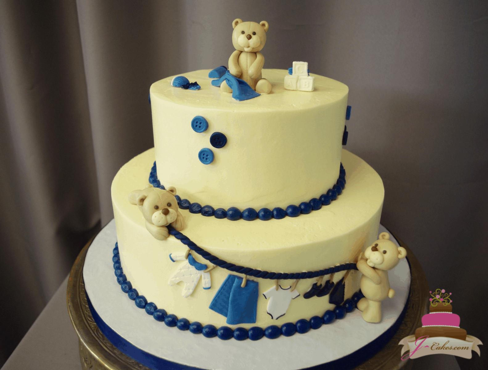 (250) Teddy Bear Clothesline Cake