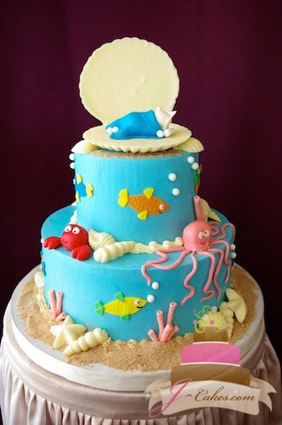 (216) Under the Sea Baby Shower Cake