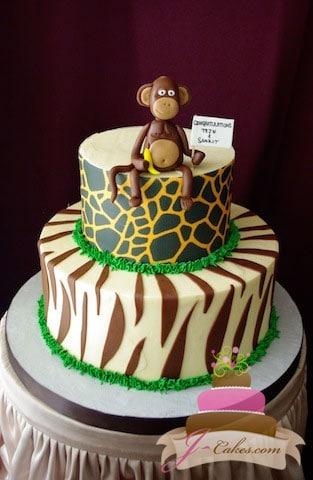 (219) Jungle Theme Baby Shower Cake