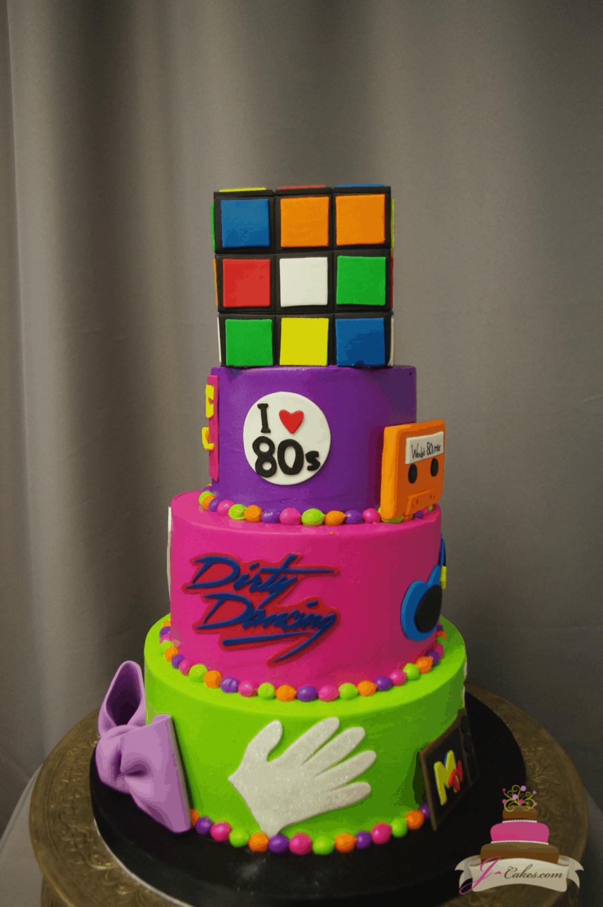 (200) 80s Birthday Cake