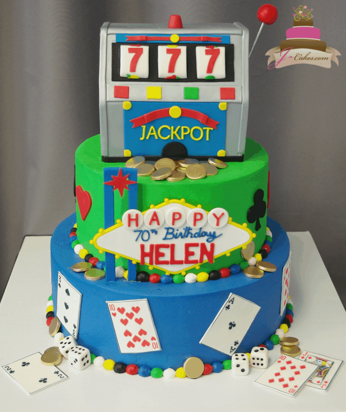 (203) Slot Machine Tiered Cake