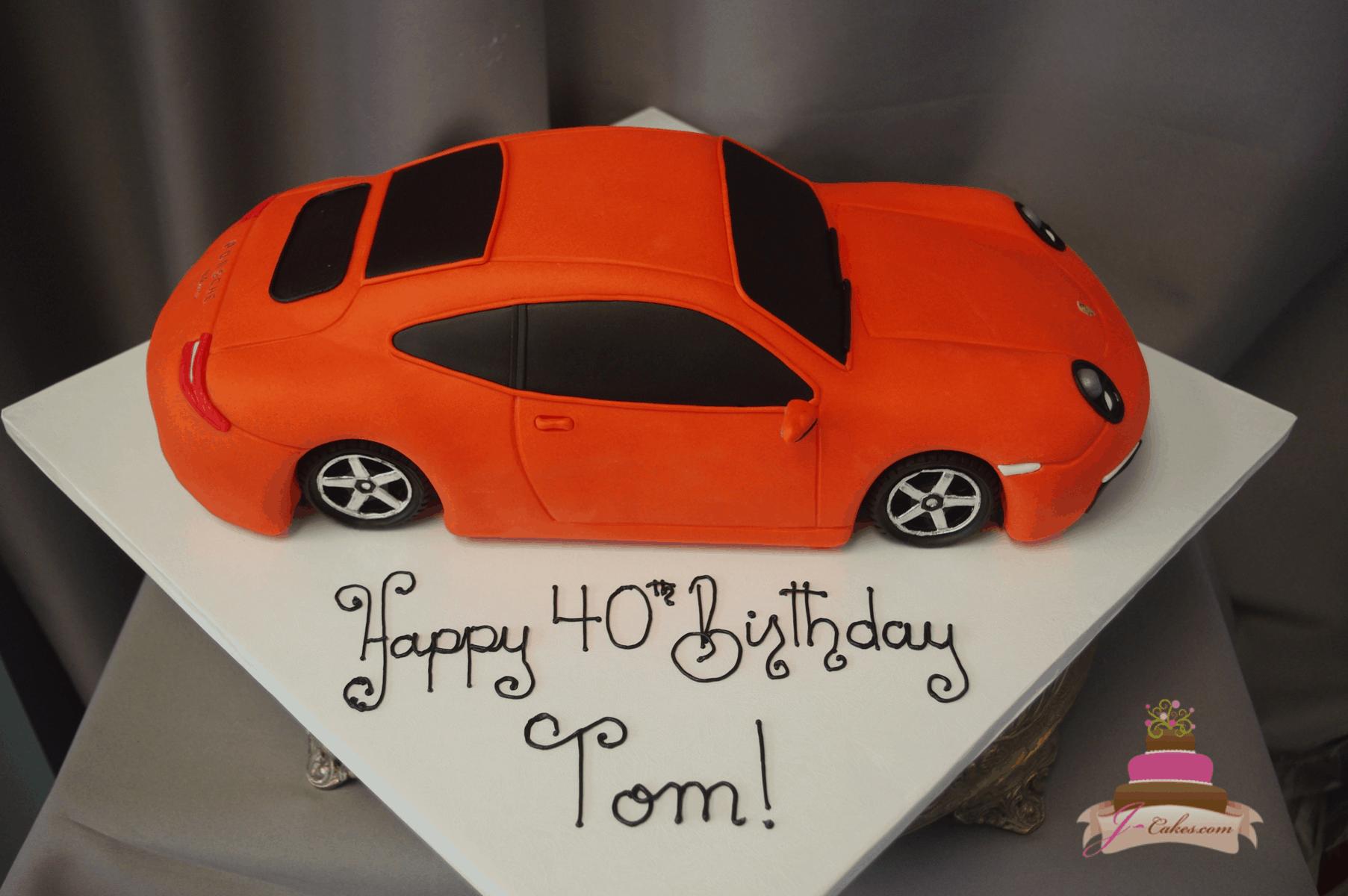 (204) 3D Porsche Cake