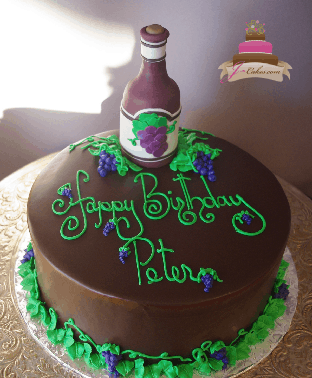 (207) Wine Bottle Cake