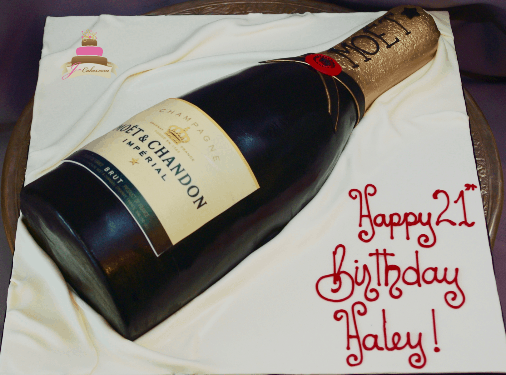 (209) 3D Champagne Bottle Cake