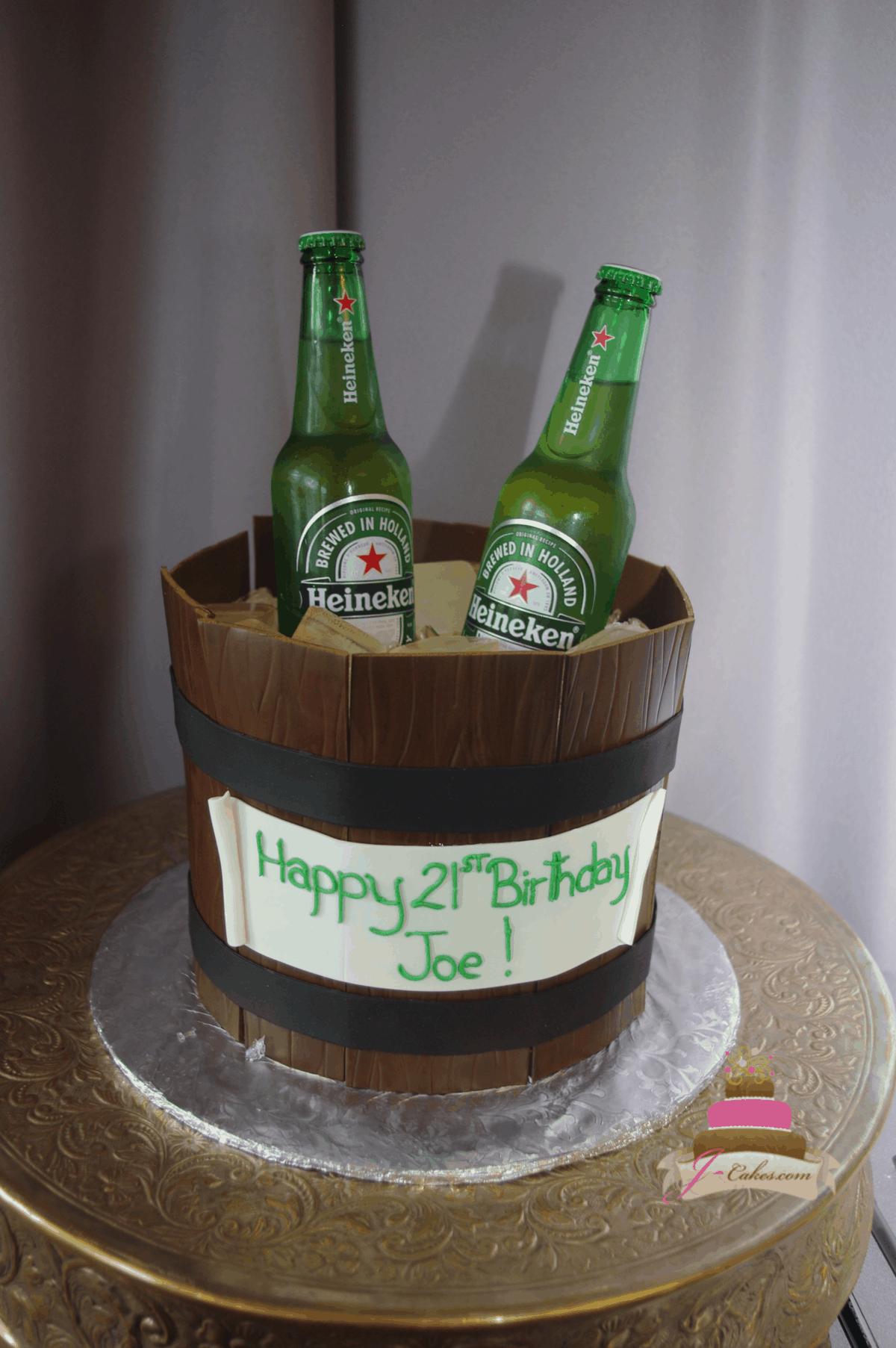 (213) Ice Bucket Cake