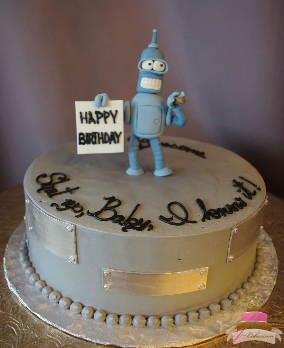 (170) Bender Birthday Cake