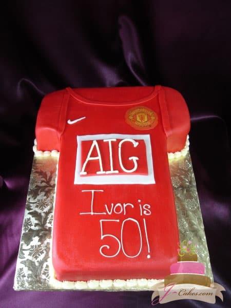 (102) Soccer Jersey Birthday Cake