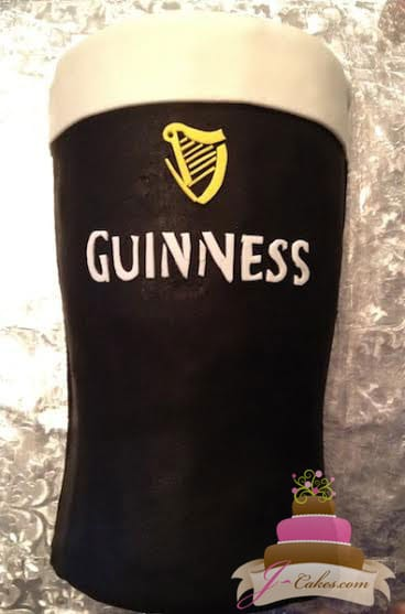 (158) Guinness Glass Birthday Cake