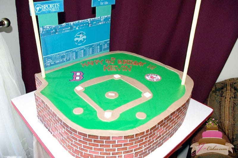 (130) Baseball Stadium Birthday Cake