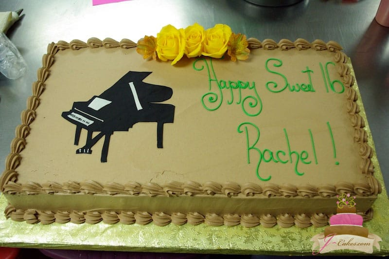 (132) Piano Birthday Cake