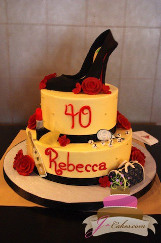 (154) Fashionista 40th Birthday Cake