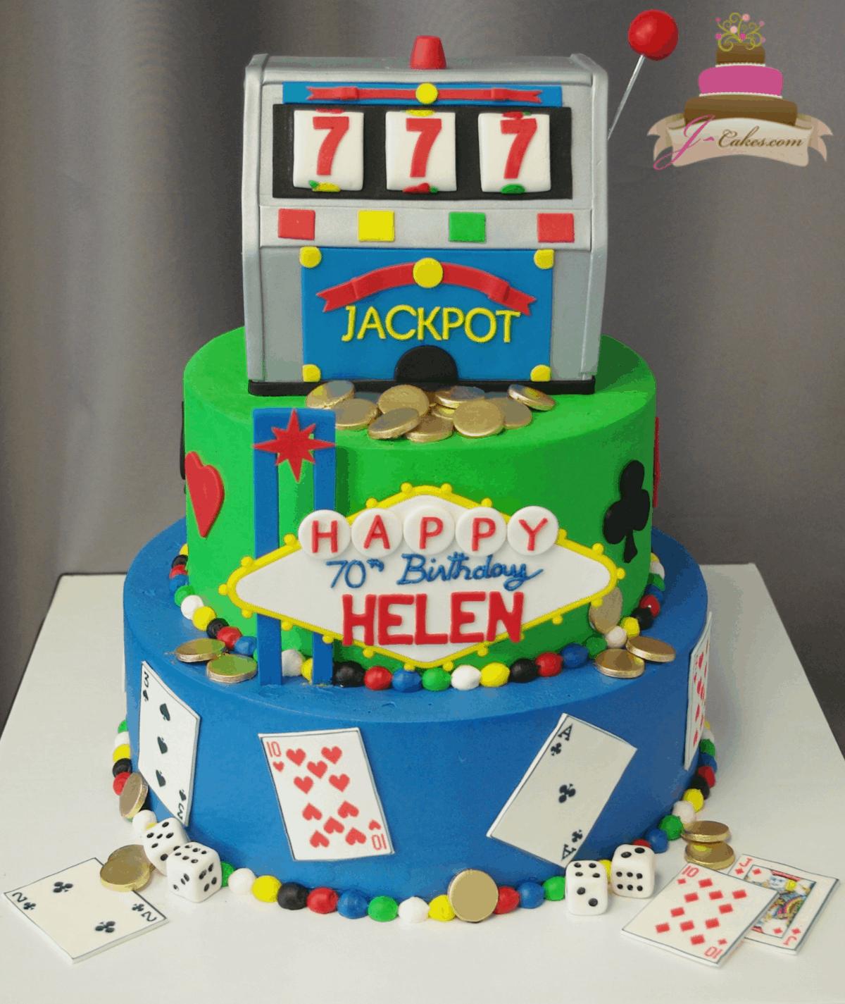 (203) Slot Machine Tiered Cake