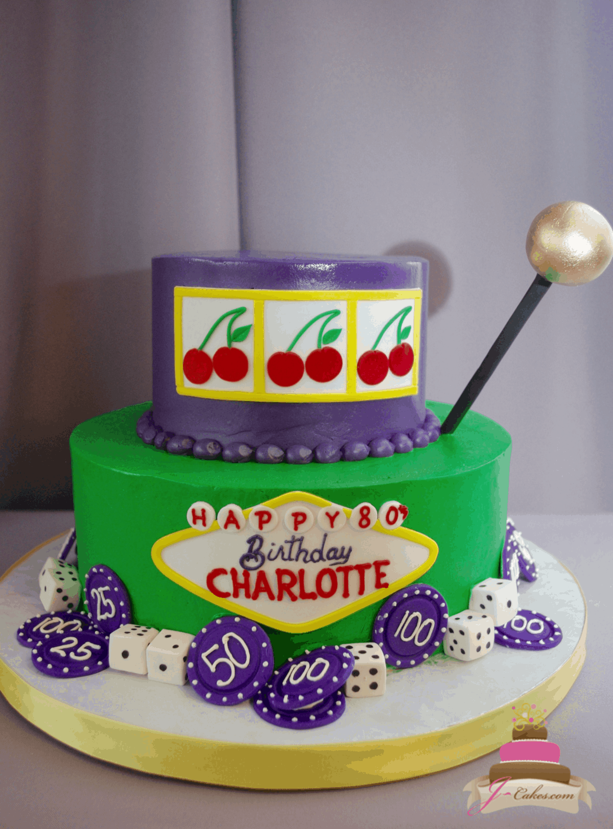 (214) Simple Slot Machine Tiered Cake