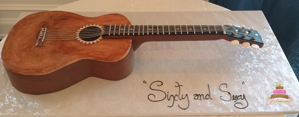 (161) Guitar Birthday Cake