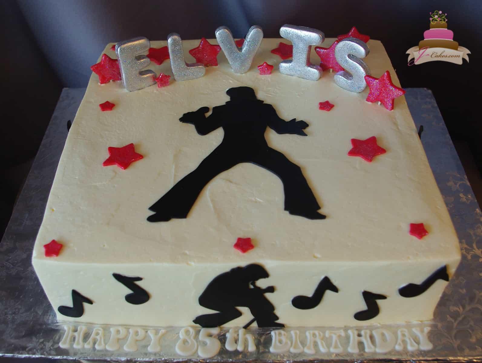 (166) Elvis Birthday Cake