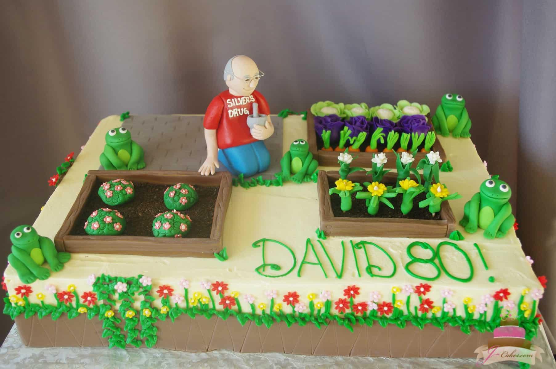 (172) Gardening Birthday Cake