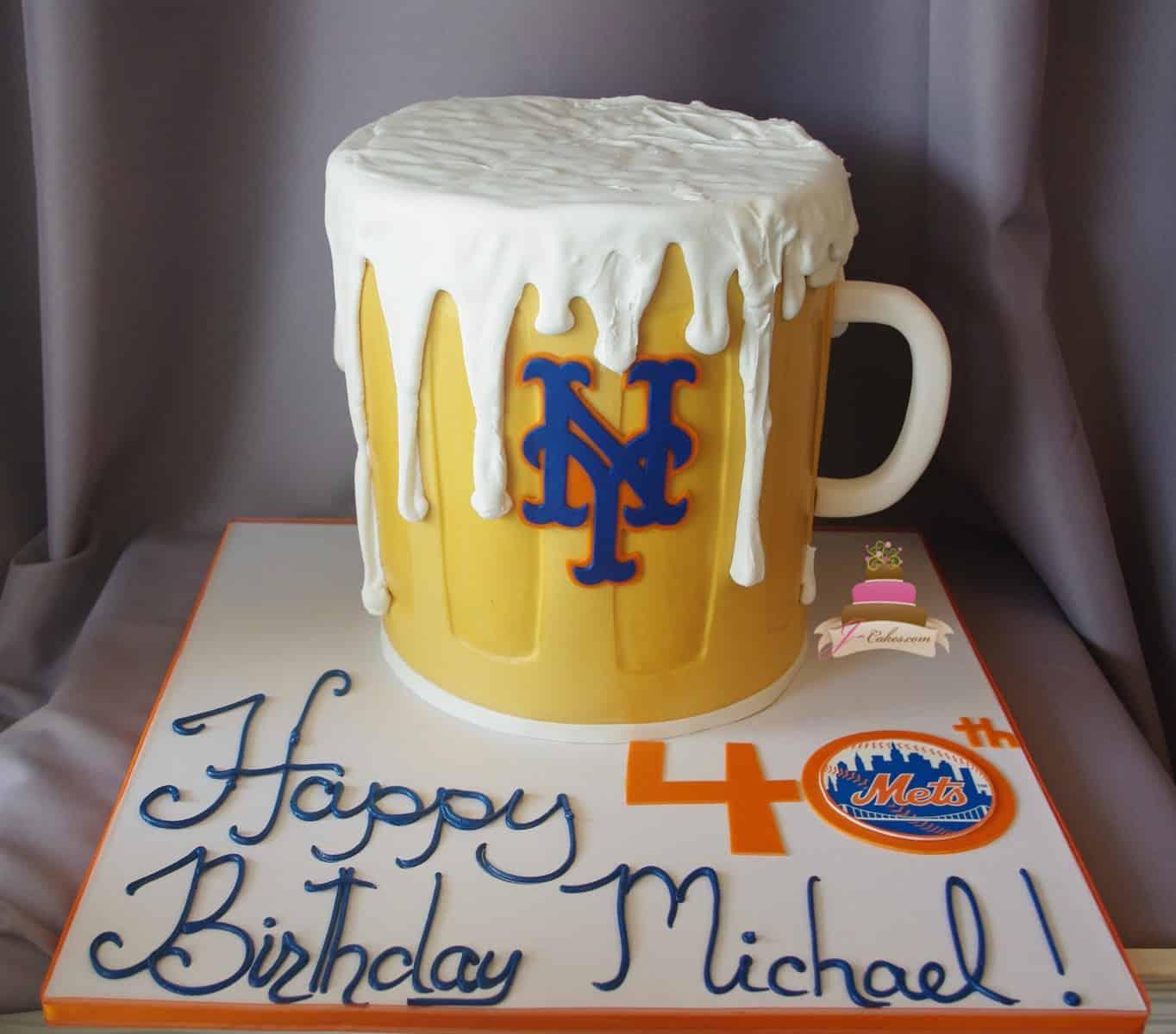 (175) Beer Mug Birthday Cake