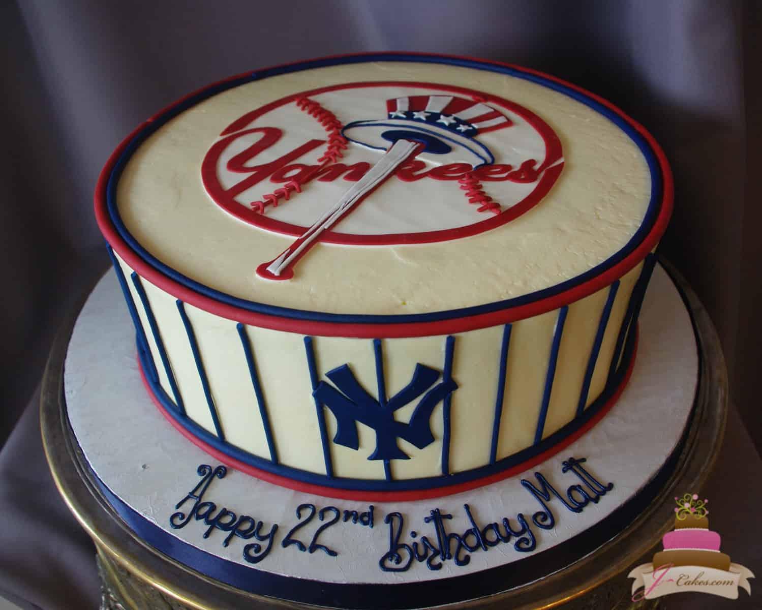 (178) Yankees Birthday Cake
