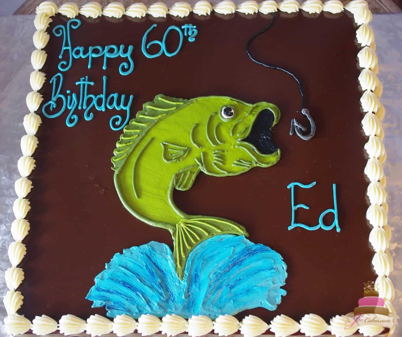 (181) Fishing Birthday Cake