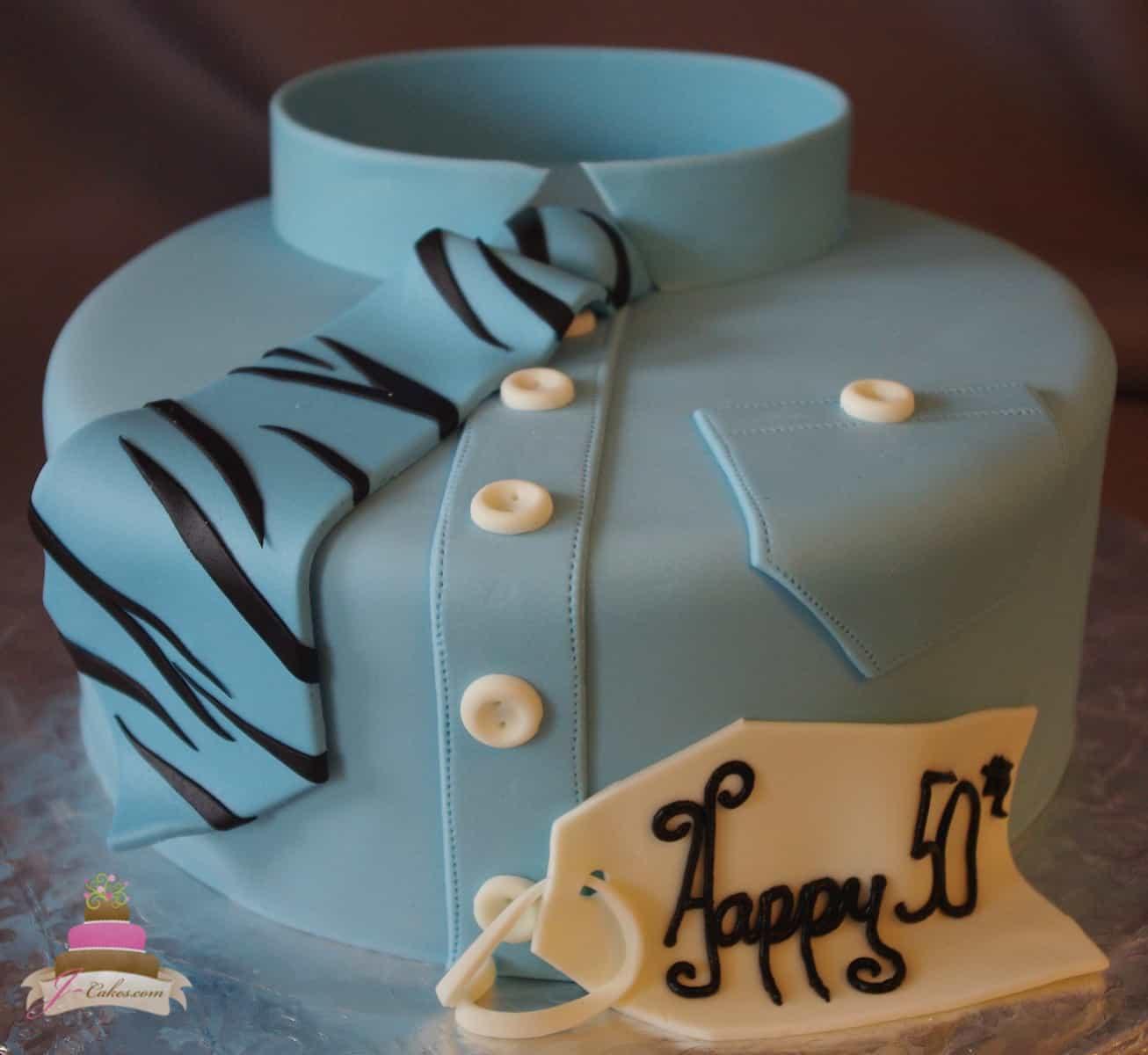 (182) Shirt and Tie Birthday Cake
