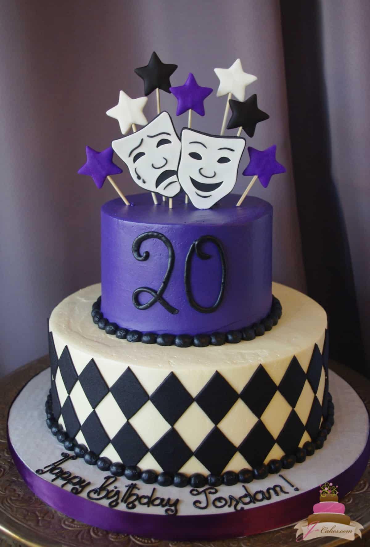 (183) Theatre Birthday Cake