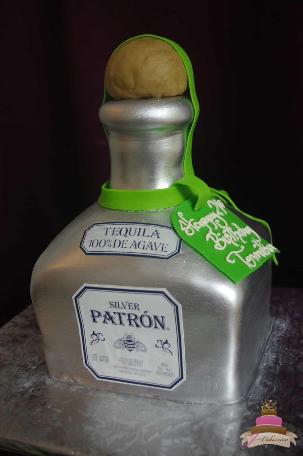 (163) Tequila Bottle Birthday Cake