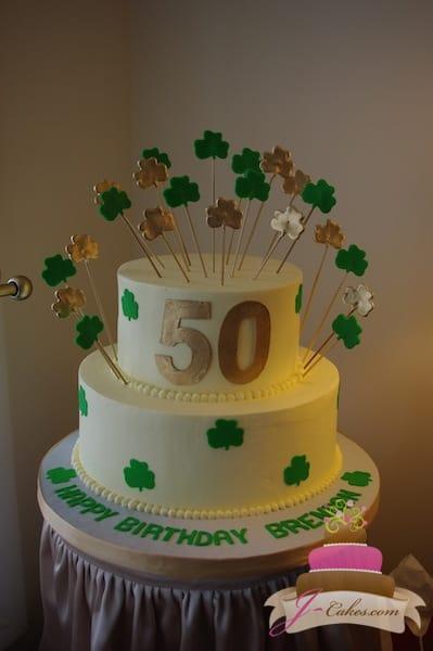 (117) Shamrock 50th Birthday Cake