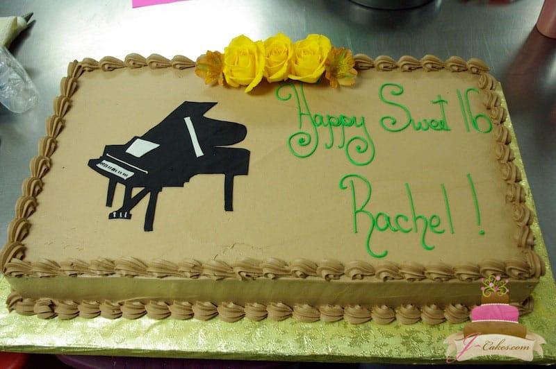 (132) Piano Birthday Cake