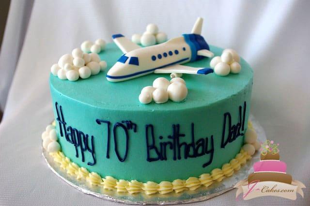 153 Airplane Birthday Cake