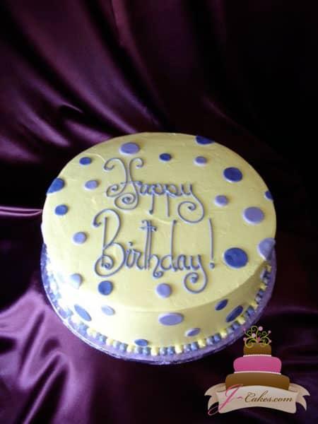 (155) Polka Dot Birthday Cake