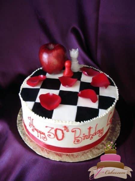 (156) Twilight Theme Birthday Cake