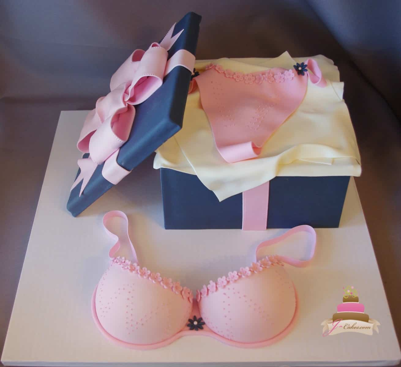 (316) Lingerie Bridal Shower Cake